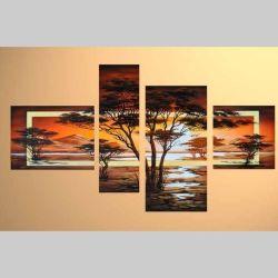 4 Leinwandbilder AFRIKA Baum (3) 120 x 70cm Handgemalt