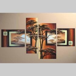 4 Leinwandbilder AFRIKA Baum (4) 120 x 70cm Handgemalt