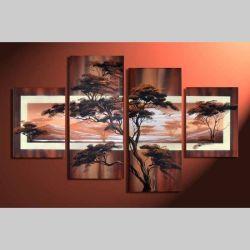 4 Leinwandbilder AFRIKA Baum (8) 120 x 80cm Handgemalt