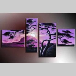 4 Leinwandbilder AFRIKA Baum (17) 120 x 70cm Handgemalt