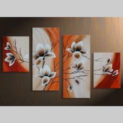 4 Leinwandbilder MAGNOLIA (7) 120 x 80cm Handgemalt