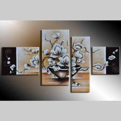 4 Leinwandbilder MAGNOLIA (17) 120 x 70cm Handgemalt