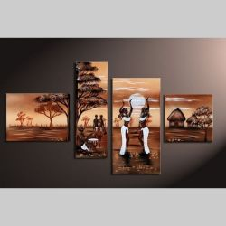 4 Leinwandbilder AFRIKA Frau (2) 120 x 70cm Handgemalt