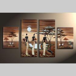 4 Leinwandbilder AFRIKA Frau (6) 120 x 70cm Handgemalt