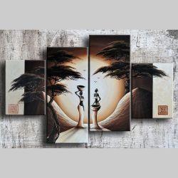 4 Leinwandbilder AFRIKA Frau (9) 120 x 80cm Handgemalt