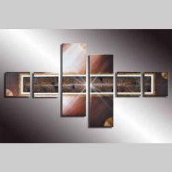 6 Leinwandbilder ABSTRAKTE KUNST (3) 120 x 70cm Handgemalt