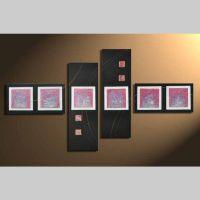 4 Leinwandbilder ABSTRAKTE KUNST (6) 120 x 70cm Handgemalt