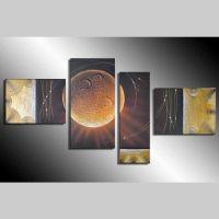 4 Leinwandbilder ABSTRAKTE KUNST (11) 130 x 70cm Handgemalt