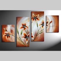 4 Leinwandbilder BLUMEN (3) 120 x 80cm Handgemalt