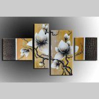 4 Leinwandbilder BLUMEN (6) 120 x 70cm Handgemalt