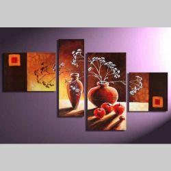 4 Leinwandbilder STILLLEBEN (1) 120 x 70cm Handgemalt