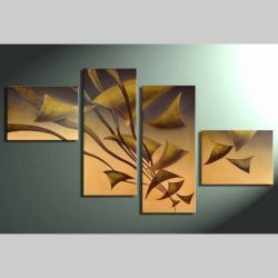 4 Leinwandbilder ABSTRAKTE KUNST (17) 140 x 80cm Handgemalt