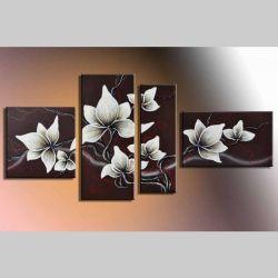 4 Leinwandbilder BLÜTE (6) 140 x 80cm Handgemalt