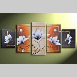 5 Leinwandbilder MAGNOLIA (1) 150 x 70cm Handgemalt