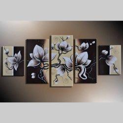 5 Leinwandbilder BLÜTE (2) 150 x 70cm Handgemalt