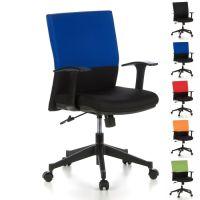 Bürostuhl ISTANBUL Schwarz-Blau aus Stoff