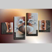 4 Leinwandbilder MAGNOLIA (5) 80 x 50cm Handgemalt