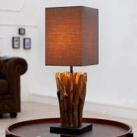 Tischlampe PENANG Grau-Braun aus Treibholz handgefertigt 45cm Höhe