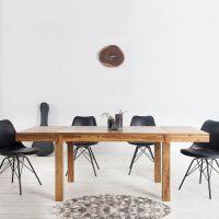 Esstisch SATNA Sheesham massiv Holz gewachst 120-160-200cm verlängerbar mit 2 Ansteckplatten