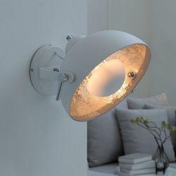 Wandlampe SPOT Weiß-Silber 30cm Ø verstellbar