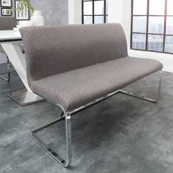 Sitzbank ENZO Grau aus Strukturstoff 130cm