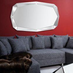 XL Wandspiegel DIAMANT mit Facettenschliff & 20 Spiegelflächen 120cm x 85cm