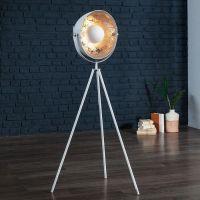 Stehlampe SPOT Weiß-Silber 140cm Höhe