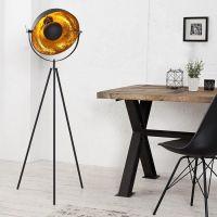 Stehlampe SPOT Schwarz-Gold 140cm Höhe