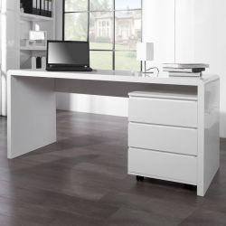 Schreibtisch SOHO Weiß Hochglanz 160cm