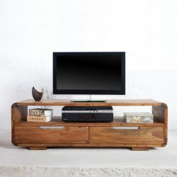 TV-Tisch DAIPUR Sheesham massiv Holz gewachst 130cm