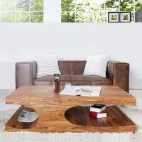 Couchtisch DAIPUR Sheesham massiv Holz gewachst 120cm x 70cm