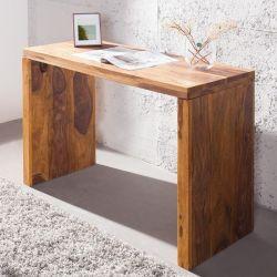 Schreibtisch SATNA Sheesham massiv Holz gewachst 100cm