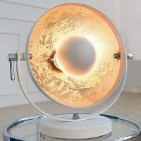 Tischlampe SPOT Weiß-Silber 40cm Höhe
