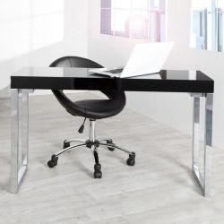 Schreibtisch PRINCETON Schwarz Hochglanz 120cm