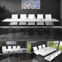 Esstisch PRAG Weiß Hochglanz 170-270cm ausziehbar