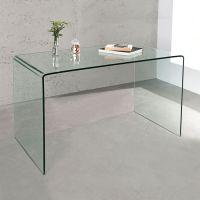 Esstisch MAYFAIR Glas transparent 120cm