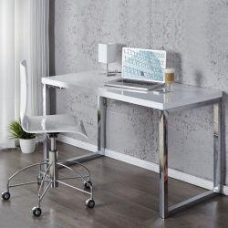 Schreibtisch OXFORD Weiß Hochglanz 120cm