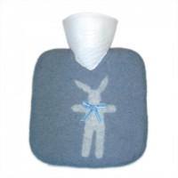 Katrin Leuze Wärmflasche Handfilz Hase hellblau 1,85L