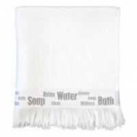LENE BJERRE Handtuch Lb Logo Towel L white