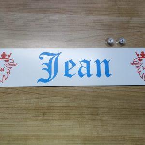 "LKW Namensschild ""Jean"""
