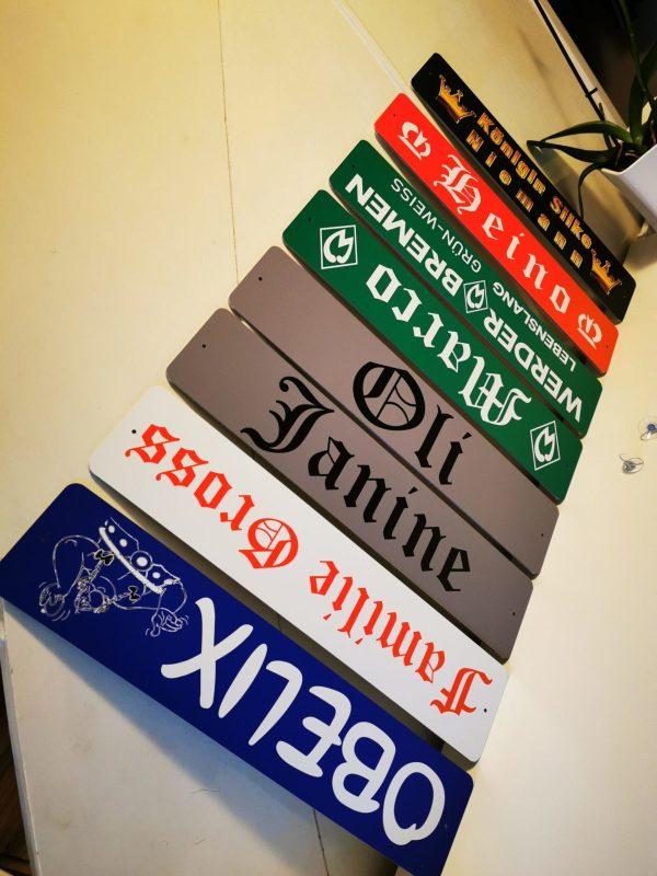 LKW Namensschilder mit 2 Saugnäpfen