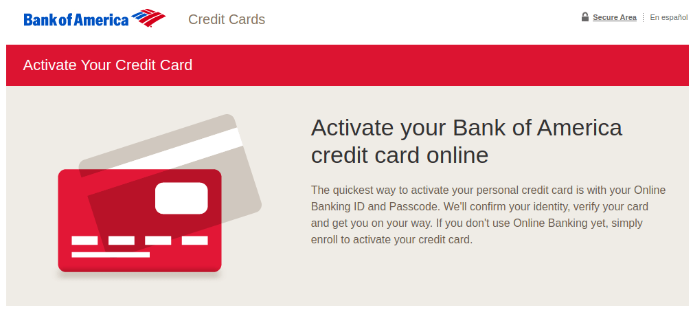 Www Bankofamerica Com Activate Activate Your Bank Of America Credit Card