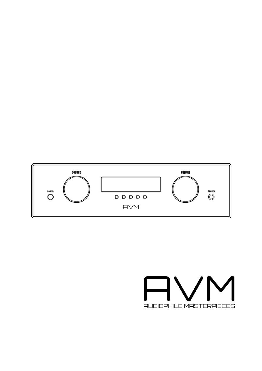Gebrauchsinformation / Datenblatt zu AVM Audio Ovation A 6