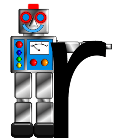 Robot letter r
