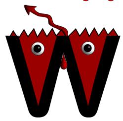 Monster letter w