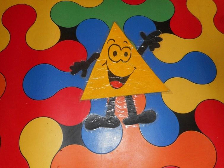 The triangle flashcard