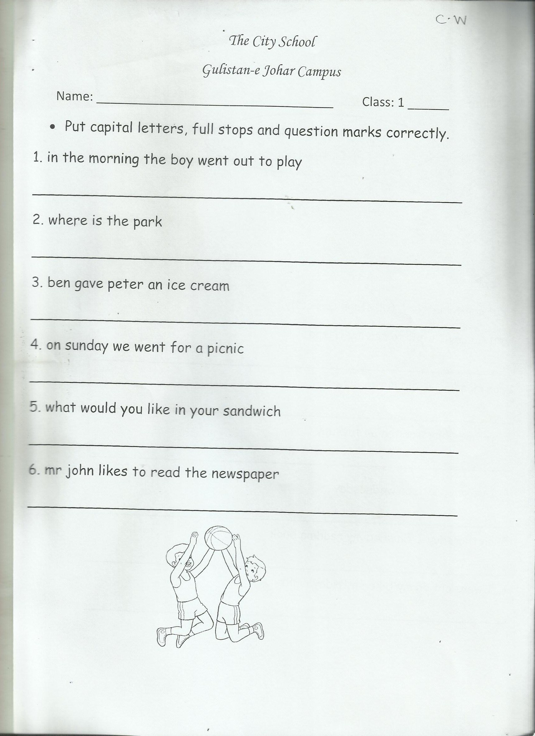 Class 2 English Worksheet