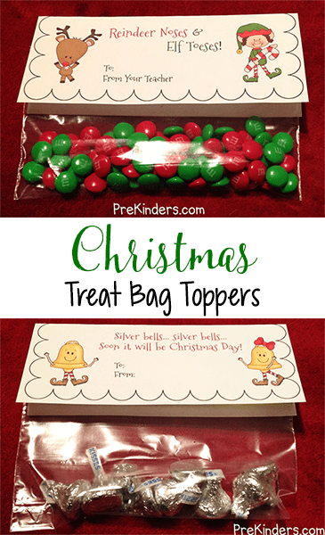 Reindeer Bag Topper Noses Printable