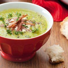 Густа супа од грашок и шунка