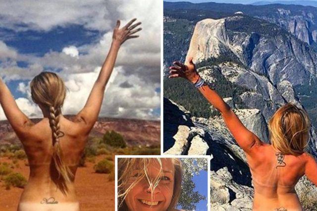 Тајната на девојката што се слика гола во националните паркови